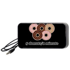 Five donuts in one minute  Portable Speaker (Black)