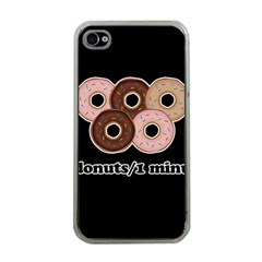 Five donuts in one minute  Apple iPhone 4 Case (Clear)
