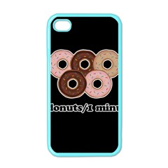 Five donuts in one minute  Apple iPhone 4 Case (Color)