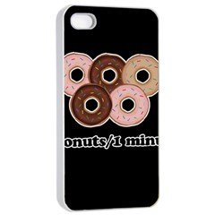 Five donuts in one minute  Apple iPhone 4/4s Seamless Case (White)