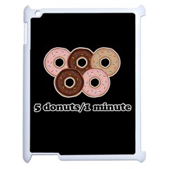 Five donuts in one minute  Apple iPad 2 Case (White)