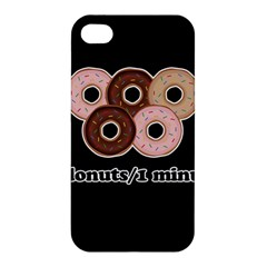 Five donuts in one minute  Apple iPhone 4/4S Hardshell Case