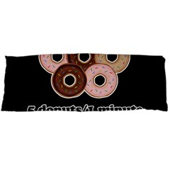 Five donuts in one minute  Body Pillow Case (Dakimakura)