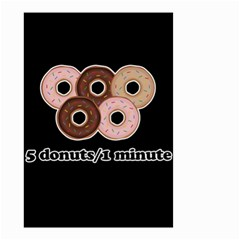 Five donuts in one minute  Small Garden Flag (Two Sides)