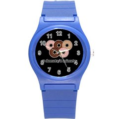 Five donuts in one minute  Round Plastic Sport Watch (S)