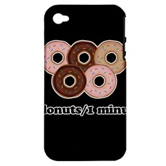 Five donuts in one minute  Apple iPhone 4/4S Hardshell Case (PC+Silicone)