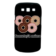 Five donuts in one minute  Samsung Galaxy S III Classic Hardshell Case (PC+Silicone)