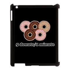 Five donuts in one minute  Apple iPad 3/4 Case (Black)
