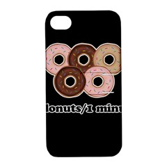 Five donuts in one minute  Apple iPhone 4/4S Hardshell Case with Stand