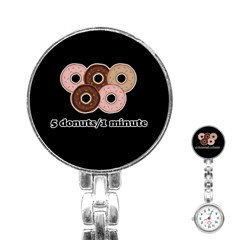 Five donuts in one minute  Stainless Steel Nurses Watch