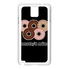 Five donuts in one minute  Samsung Galaxy Note 3 N9005 Case (White)