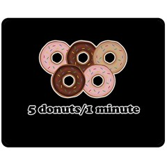 Five donuts in one minute  Double Sided Fleece Blanket (Medium)