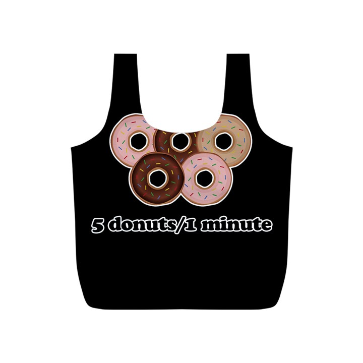 Five donuts in one minute  Full Print Recycle Bags (S)
