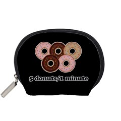 Five donuts in one minute  Accessory Pouches (Small)