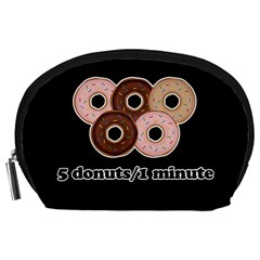 Five donuts in one minute  Accessory Pouches (Large)