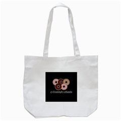 Five donuts in one minute  Tote Bag (White)
