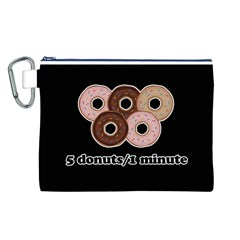 Five donuts in one minute  Canvas Cosmetic Bag (L)