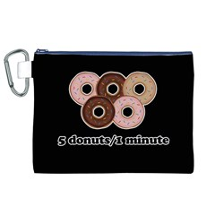 Five donuts in one minute  Canvas Cosmetic Bag (XL)