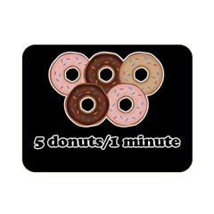 Five donuts in one minute  Double Sided Flano Blanket (Mini)