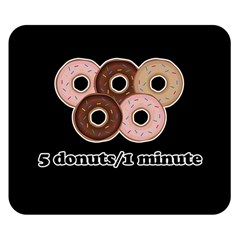Five donuts in one minute  Double Sided Flano Blanket (Small)