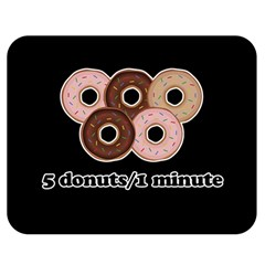 Five donuts in one minute  Double Sided Flano Blanket (Medium)