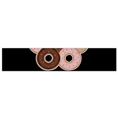 Five donuts in one minute  Flano Scarf (Small)