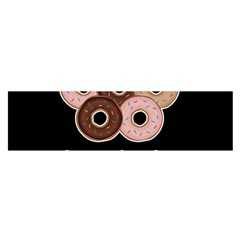 Five donuts in one minute  Satin Scarf (Oblong)