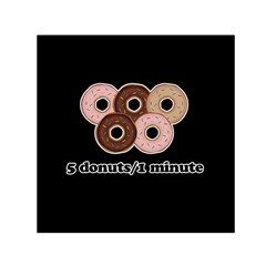 Five donuts in one minute  Small Satin Scarf (Square)