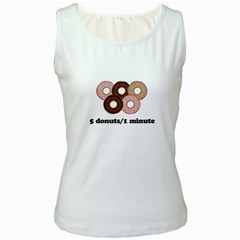 852 Women s White Tank Top