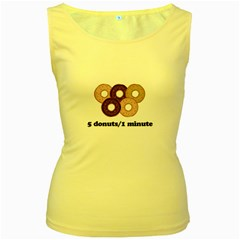 852 Women s Yellow Tank Top