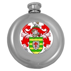 County Donegal Coat of Arms Round Hip Flask (5 oz)