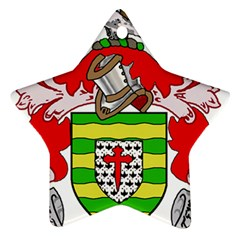 County Donegal Coat of Arms Star Ornament (Two Sides)