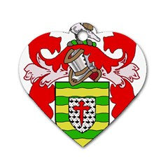 County Donegal Coat of Arms Dog Tag Heart (One Side)