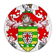 County Donegal Coat of Arms Round Filigree Ornament (Two Sides)