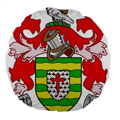 County Donegal Coat of Arms Large 18  Premium Round Cushions