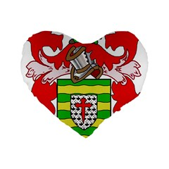 County Donegal Coat of Arms Standard 16  Premium Flano Heart Shape Cushions