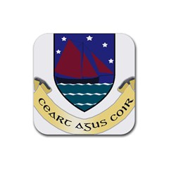 Coat of Arms of County Galway  Rubber Coaster (Square)