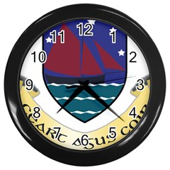 Coat of Arms of County Galway  Wall Clocks (Black)