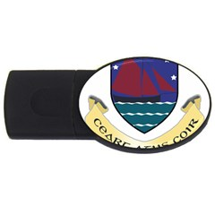 Coat of Arms of County Galway  USB Flash Drive Oval (4 GB)