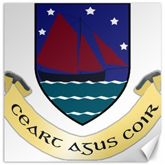 Coat of Arms of County Galway  Canvas 12  x 12