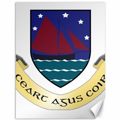 Coat of Arms of County Galway  Canvas 18  x 24