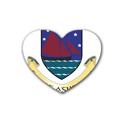 Coat of Arms of County Galway  Rubber Coaster (Heart)