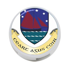 Coat of Arms of County Galway  4-Port USB Hub (One Side)