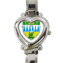 Coat of Arms of County Kerry  Heart Italian Charm Watch