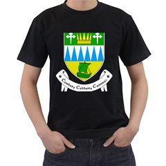 Coat of Arms of County Kerry  Men s T-Shirt (Black) (Two Sided)