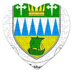 Coat of Arms of County Kerry  Jigsaw Puzzle (Heart)