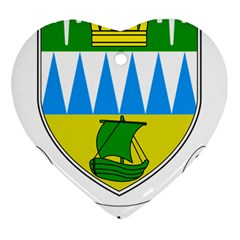Coat of Arms of County Kerry  Heart Ornament (Two Sides)