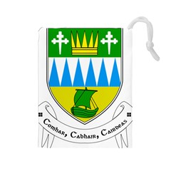 Coat of Arms of County Kerry  Drawstring Pouches (Large)