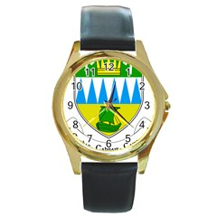 Coat of Arms of County Kerry Round Gold Metal Watch