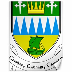 Coat of Arms of County Kerry Canvas 12  x 16